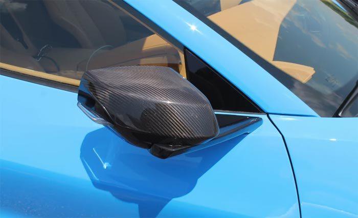 Video Rapid Blue 2020 Corvette Stingray With Carbon Fiber Mirrors