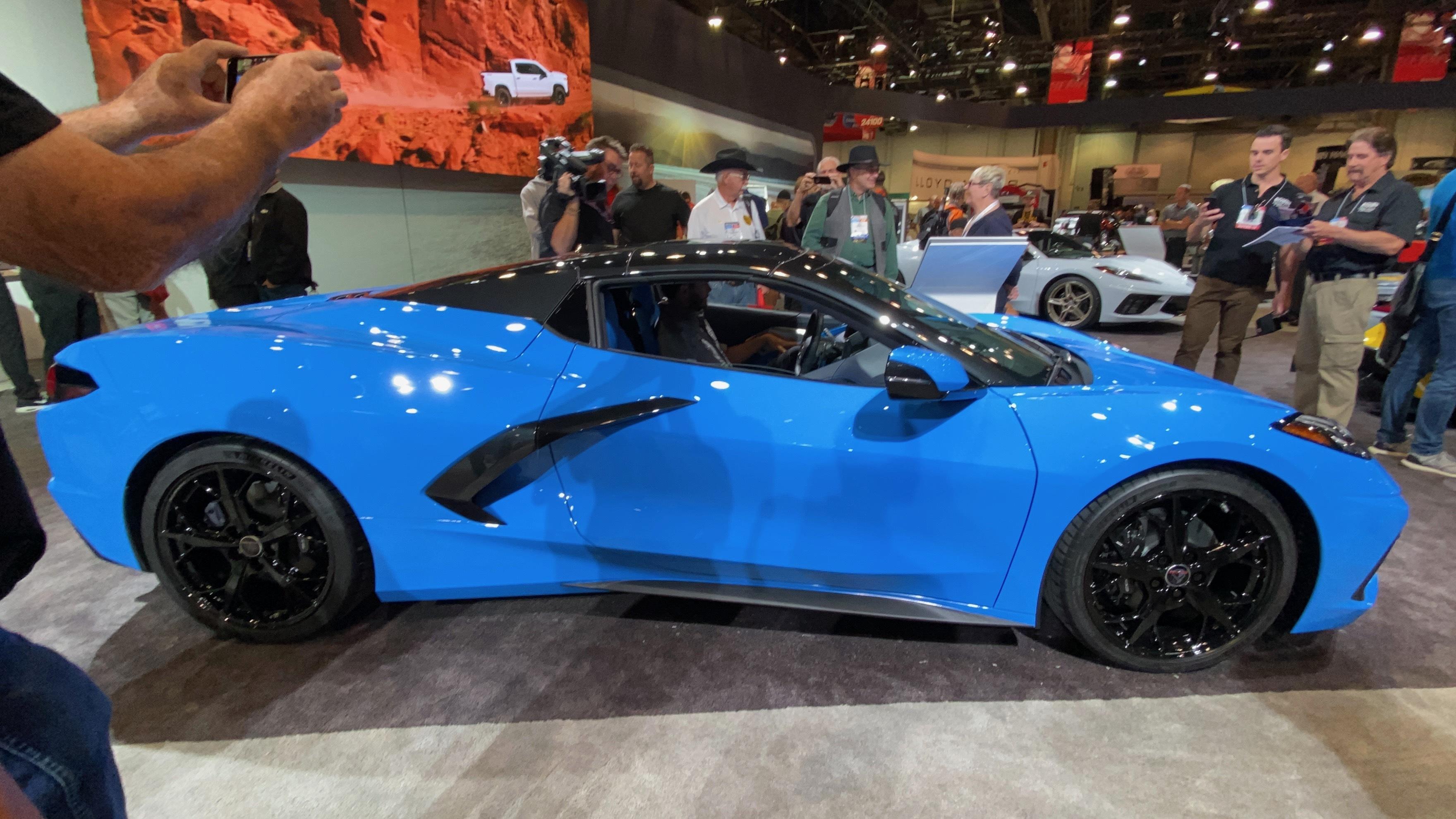Rapid Blue 2020 Corvette Stingray C8 Convertible At Sema 2019 Pics